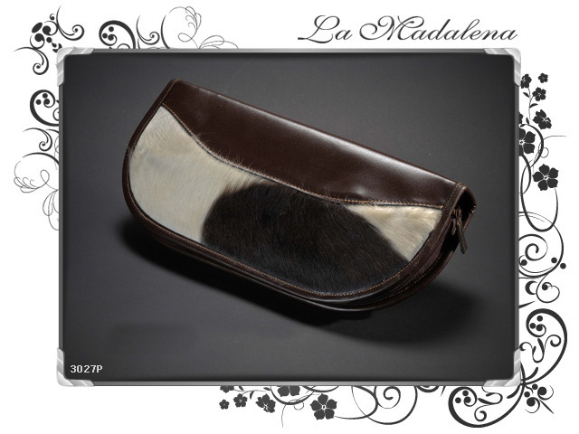 3027P Stationery:  Calf hair leather CD/DVD Holder, Calf hair leather,  zipper