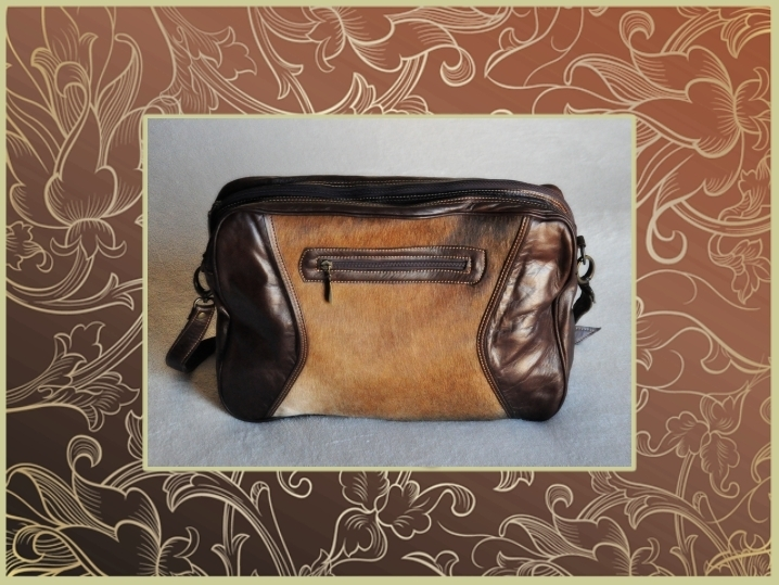2000P Calf hair leather bag, suitable for laptop